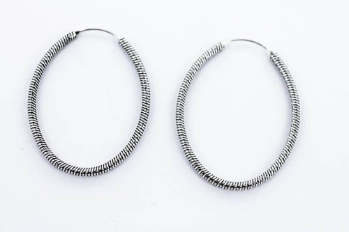 H1151 40mm rope style hoops