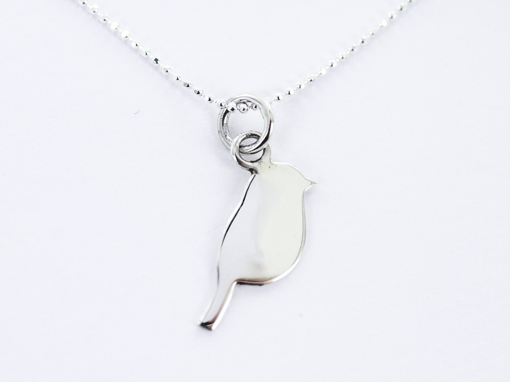 P1144 sweet plain silver bird pendant smile jewellery ltd p1144 sweet plain silver bird pendant mozeypictures Image collections